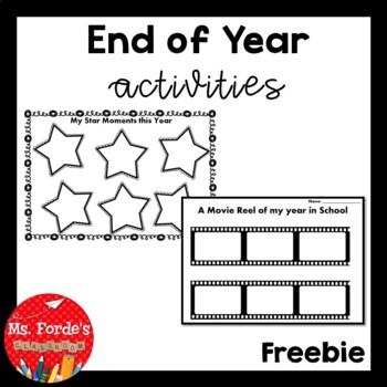 End of Year Activities FREEBIE