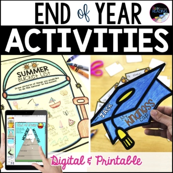 End of Year Activities, No Prep Last Week of School Activities