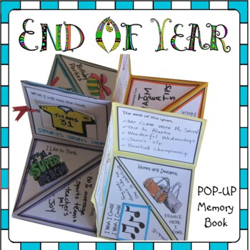 End of Year Activities - POP UP Yearbook for Grade 7 & 8