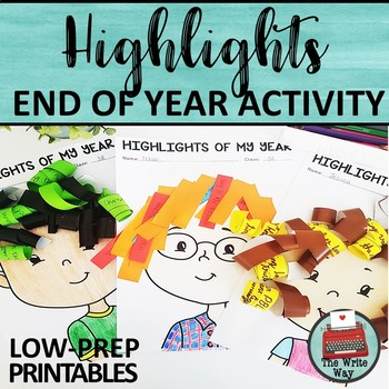 End of Year Activities: Highlights Writing Review Activity