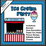 Back To School Ice Cream Party