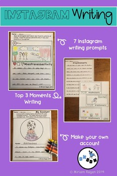 End of Year Activities: Instagram Writing Activities
