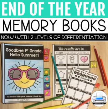 End of Year Activities: Memory Book FREEBIE
