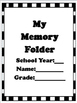 End of Year Activities: Memory Folder