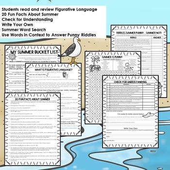Summer Activities | Summer Riddles | Print and GO!