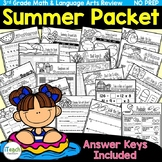 End of Year Activities Summer Packet NO PREP 3rd Grade Skills Review