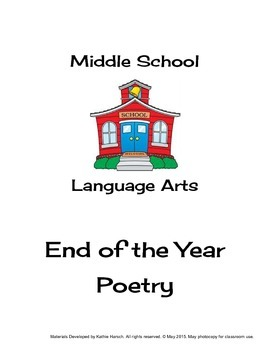 End of Year Activities - Summer is Here! Poetry