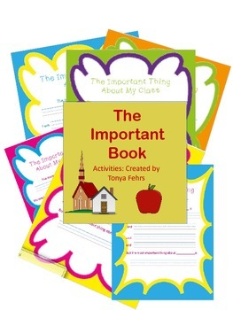 End of Year Activities:  The Important Book