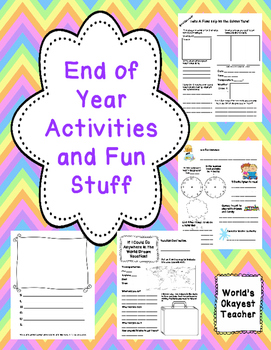End of Year Activities and Fun Stuff