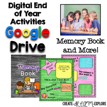 Digital End of Year Memory Book Activities for Google Slides Resource