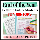 End of Year Activities for Seniors Letter to Next Years Students Future Students