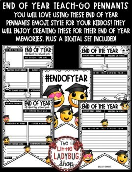 Emoji End of The Year Writing Activity -End of Year Reflection Writing