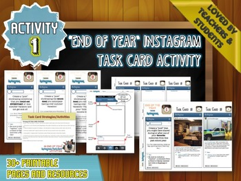 End of Year Activity BUNDLE: 3 Engaging Activities for Middle and High School