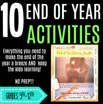 10 End of Year Activities Bundle!