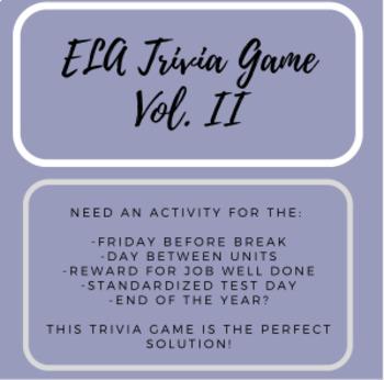 End of Year Activity Bundle - ELA