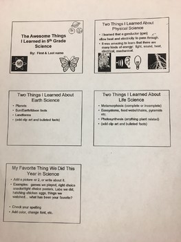 End of Year Activity- Create a Slideshow - Students LOVE to do this!
