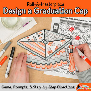 End of Year Activity: Design a Graduation Cap, Art Sub Plans and Writing Prompts
