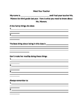End of Year Activity- Editable