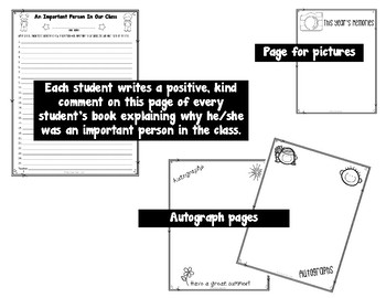 End of Year Activity: Fourth Grade Yearbook of Memories Keepsake