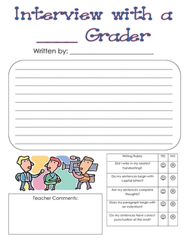 End of Year Activity - Interview with a ___ Grader!