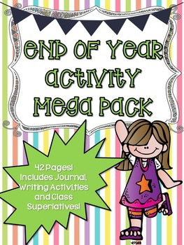 End of Year Activity Mega Pack - 42 Pages!