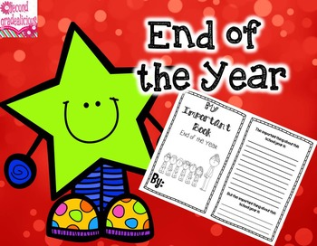 The Important Book End of the Year Activity