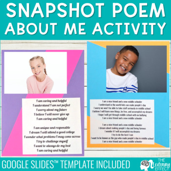 End of Year Activity | Student Snapshot Poem