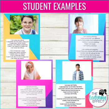 Student Snapshot Poem | About Me Activity