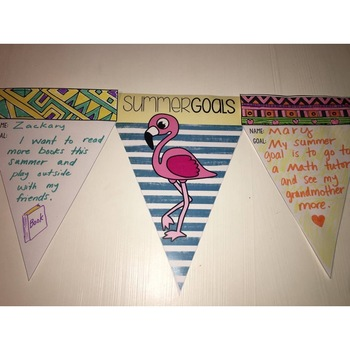 End of the Year Activity - Summer Goals Banner