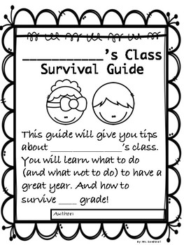 End of Year Activity *Survival Guide*   (rate me to pay me)