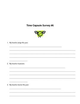 End-of-Year-Activity (Time Capsule Survey)