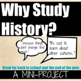 Why Study History Collaborative End of Year Activity that ROCKS! (editable)