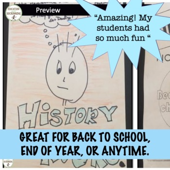 End of Year History Activity that ROCKS! (editable)