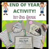 End of Year Activity and Certificate! 1st-2nd Grade