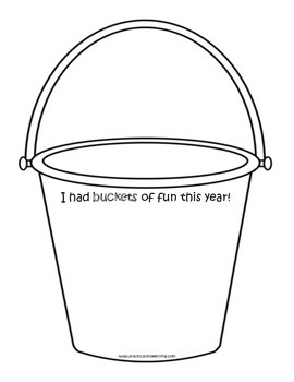 End of Year Activity/Craftivity: We Had BUCKETS of Fun This Year