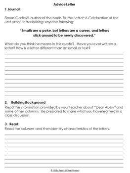 Advice Letter - End of the Year Feedback Activity