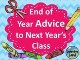 End of Year Advice to Next Year's Class