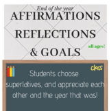 End of Year Awards Affirmations Superlatives Homeroom Clas