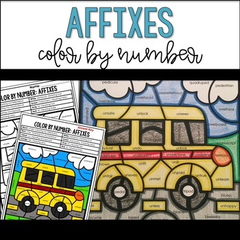 Affixes Review Color By Number