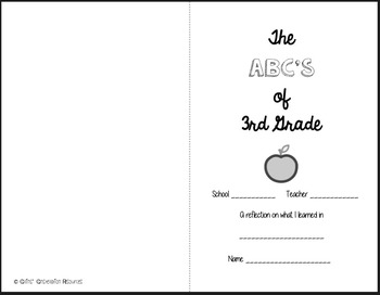 End of Year Alphabet Book Activity: Skill Review & Reflection