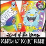 End of Year Art Lesson Bundle, Rainbow Art Projects