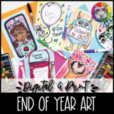 End of Year Art Lessons Booklet, Distance Learning {DIGITA