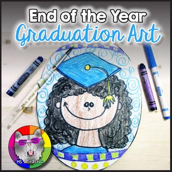 End of Year Art Lesson,  Graduation Portrait Art Project