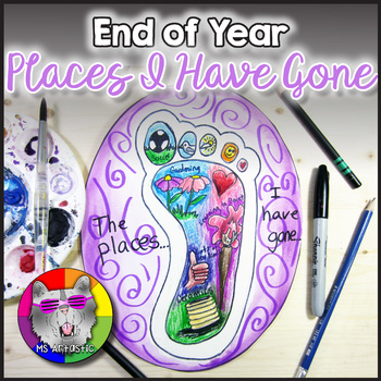 """End of Year Art Lesson, Memories """"Places I Have Gone"""" Art Project"""