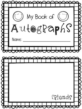 Old Fashioned image within free printable autograph pages
