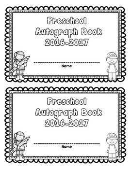 End of Year Autograph Book