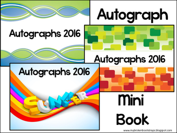 End of Year Autograph Mini Book