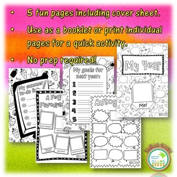 FREE End of Year Mini Book Activity