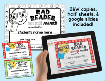 Editable - End of Year Awards - Emoji Awards - Classroom Awards -Student Awards