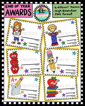 End of Year Award Bundle - 12 color and BW themes {KT Creates}